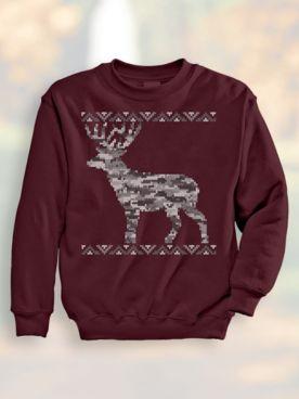 Jacquard Deer Sweatshirt