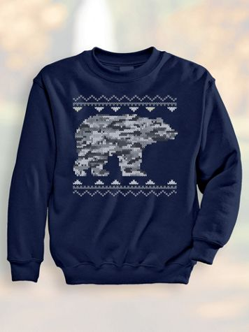 Jacquard Bear Sweatshirt - Image 1 of 5