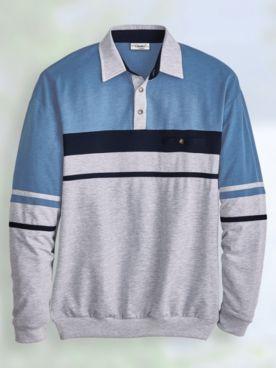 Palmland® Long-Sleeve Horizontal Stripe Polo