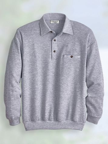 Palmland® Long-Sleeve Quilted Polo - Image 1 of 7