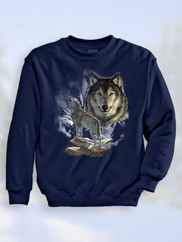 Signature Graphic Sweatshirt - Wolf Call - Image 1 of 4