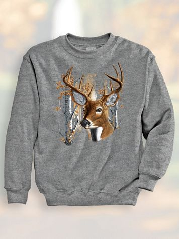 Signature Graphic Sweatshirt - Deer Shine - Image 1 of 4