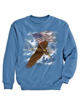Signature Graphic Sweatshirt - Eagle Mist