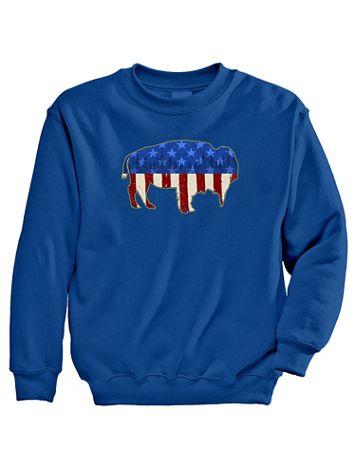 Signature Graphic Sweatshirt - American Bison - Image 1 of 5