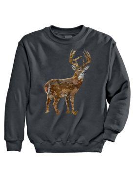 Signature Graphic Sweatshirt - Pixel Deer