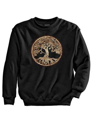 Signature Graphic Sweatshirt - Life Tree - Image 1 of 3