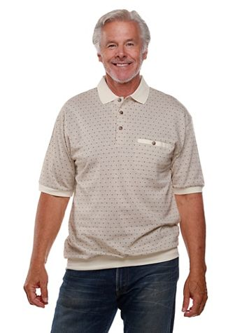 Palmland® Short-Sleeve Patterned Polo - Image 1 of 8