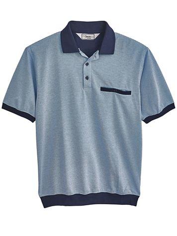 Palmland® Short-Sleeve Patterned Polo - Image 2 of 2