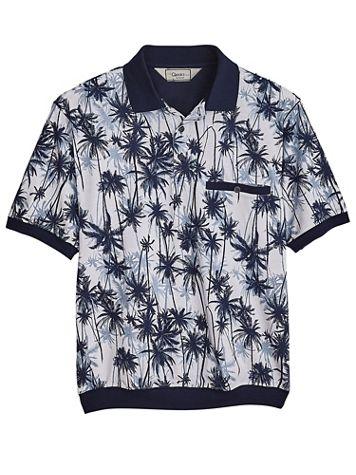 Palmland® Short-Sleeve Patterned Polo - Image 1 of 1