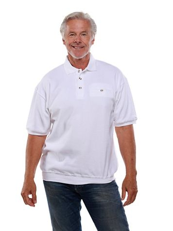 Palmland® Short-Sleeve Banded-Bottom Polo - Image 1 of 6