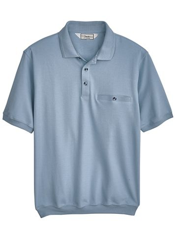 Palmland® Short-Sleeve Banded-Bottom Polo - Image 1 of 5