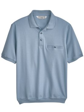 Palmland® Short-Sleeve Banded-Bottom Polo
