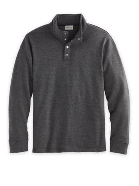 John Blair Long-Sleeve Snap Fleece Pullover
