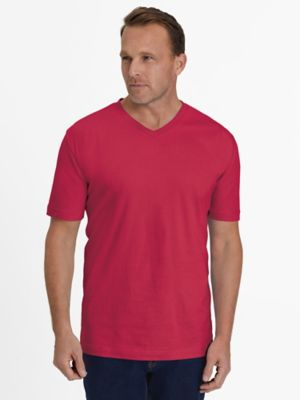 Everyday Jersey Knit No-Pocket V-Neck Tee Shirt