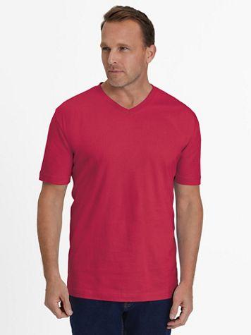 Everyday Jersey Knit No-Pocket V-Neck Tee Shirt - Image 1 of 10