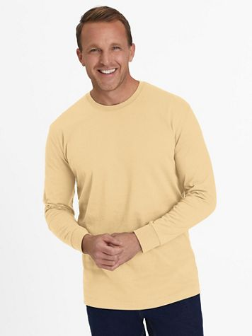 Everyday Jersey Knit No-Pocket Long-Sleeve Tee Shirt - Image 1 of 9