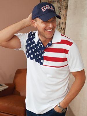 USA Flag Stars and Stripes Polo