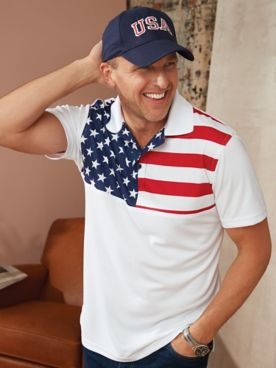 USA Flag Stars and Stripes Polo