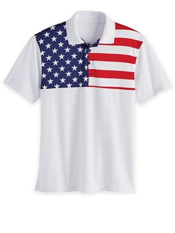 USA Flag Stars and Stripes Polo - Image 2 of 2