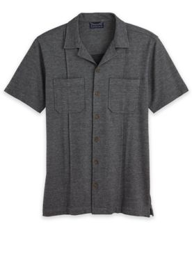 John Blair Knit Button-Down Shirt