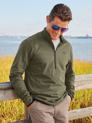 Wrangler Long-Sleeve Quarter-Zip Pullover