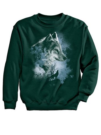 Gray Wolf Graphic Sweatshirt - Image 1 of 4