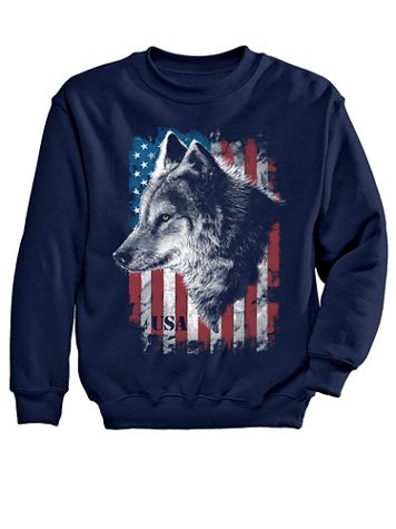 USA Wolf Graphic Sweatshirt - Image 1 of 4