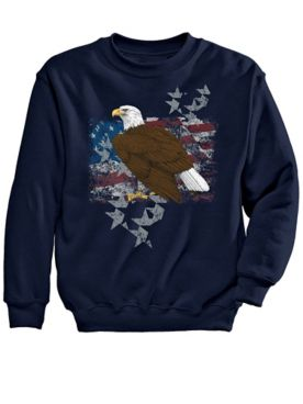 Eagle Stand Graphic Sweatshirt
