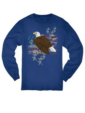 Eagle Stand Graphic Long-Sleeve Tee