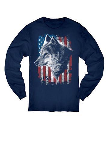 USA Wolf Graphic Long-Sleeve Tee - Image 1 of 4
