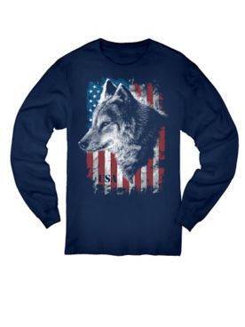 USA Wolf Graphic Long-Sleeve Tee