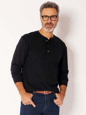 John Blair Everyday Jersey Knit Long-Sleeve Henley