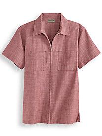 1960s – 1970s Mens Shirts- Dress, Mod, Disco, Turtleneck Scandia Woods Full-Zip Shirt $34.99 AT vintagedancer.com