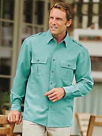 John Blair Linen-Look Pilot Shirt by Blair