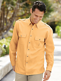 John Blair Linen-Look Pilot Shirt