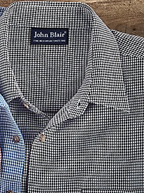 John Blair Houndstooth Check Shirt by Blair