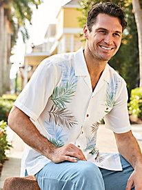 1950s Style Mens Shirts Irvine Park Tropical-Print Shirt $37.99 AT vintagedancer.com