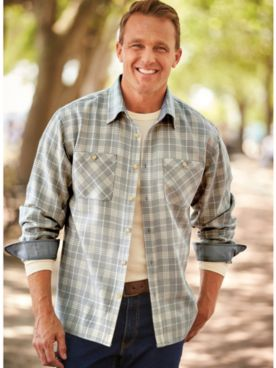 John Blair Classic Flannel Shirt