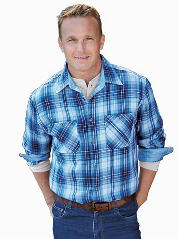 John Blair Classic Flannel Shirt - Image 1 of 10