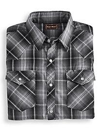 High Noon Short Sleeve Snap Front Shirt by Blair