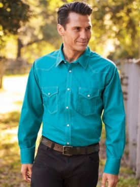 High Noon™ Long-Sleeve Solid Snap-Front Shirt