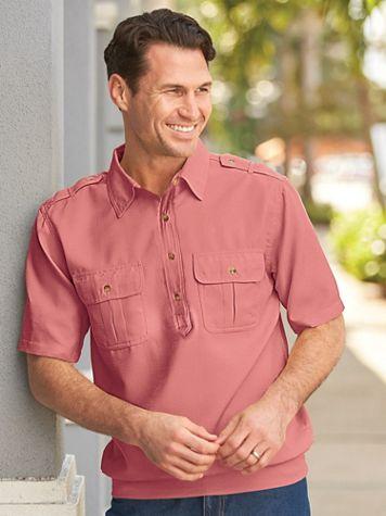 John Blair Linen Look Banded-Bottom Pilot Shirt - Image 2 of 2