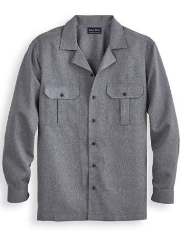 John Blair® Long-Sleeve Gabardine Dress Shirt