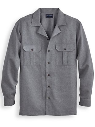 Retro Clothing for Men | Vintage Men's Fashion John Blair Gabardine Shirt $24.99 AT vintagedancer.com