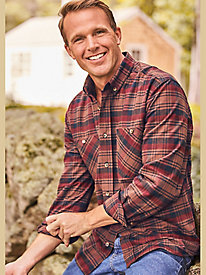 Scandia Woods Plaid Cotton Chamois Shirt