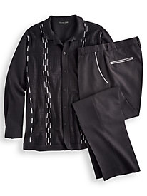 Stacy Adams® Coordinating Shirt and Pant Set by Blair