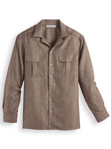 Irvine Park® Mélange Pilot Shirt - Image 0 of 1