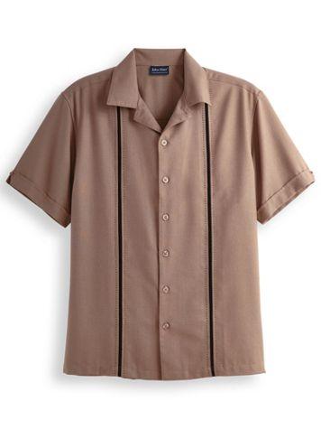 John Blair Linen-Look Vertical Detail Shirt - Image 1 of 4