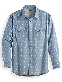 Scandia Woods Printed Chambray Shirt by Blair