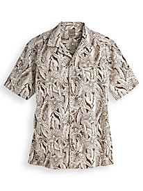 Scandia Woods Linen-Look Paisley Shirt by Blair